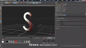 C4D预设 固体融化液态状C4D流体转换工具 Solid To Liquid Tool For CINEMA 4D